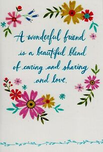 Hallmark Friendship A Wonderful Friend Greeting Card For Her