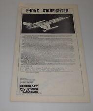 HASEGAWA F-104C STARFIGHTER #104 *PARTS* INSTRUCTION MANUAL 1/32