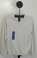IZOD Men's Campus Long Sleeve V-Neck Sweater Rock Heather Beige - Size Small