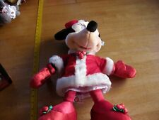 """Minnie Mouse Santa Clause outfit Christmas 18"""" plush NWT 2000s"""
