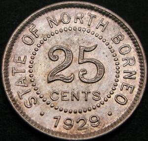 NORTH BORNEO 25 Cents 1929H - XF- 1299 ¤