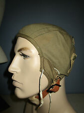 WWII US ARMY AIR FORCE FLIGHT HELMET EARLY TYPE A8 SIZE MEDIUM