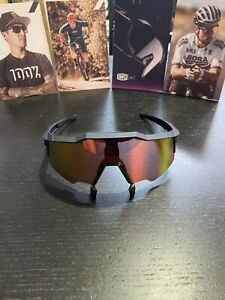 100 % Sunglasses SPEEDCRAFT AIR Soft Tact Black Hiper Red Multiplayer Mirror