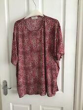 Ladies Leopard Print Tunic Top Size 26/28