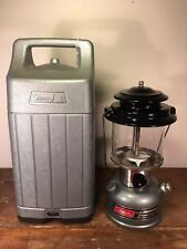 Coleman The Powerhouse Unleaded 295 Lantern with Case Silver Dated 12/89
