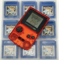 Nintendo GameBoy Color - Refurbished Colour Game Boy Handheld Red Clear GBC