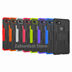 Heavy Duty ShockProof Kickstand Case Military Builder Cover for Google Pixel 2XL