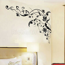 Wall Sticker Black Flower Vine Home Room Bedroom Decoration DIY Art PVC Decal