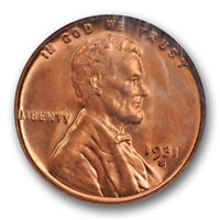 1931 S 1C Lincoln Wheat Cent NGC MS 64 RD Full Red Uncirculated Key Date