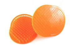 2PCS ORANGE ROUND SHAMPOO HAIR BRUSH PLASTIC MASSAGE SCALP SHOWER COMB VA133B-O