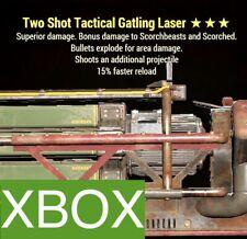 TSE 15 FR GATLING LASER TWO SHOT EXPLOSIVE FASTER RELOAD FO 76 XBOX LEGACY