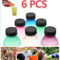 6pcs Caps Snap Bottle Top Can Cover Fizz Coke Drink Soda Lid Cap Reusable UK