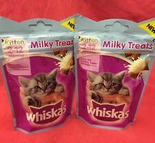 Whiskas Kitten Milky Treats 2x 55g Rich In Milk Supports Bones 8+ Wk Old Calcium
