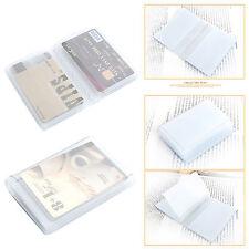 Plastic Vinyl Point Card holder Credit Card Wallet Insert 20 Cards