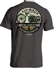Laid-Back USA T Shirt Wheeler Splinter Motorcycle Men's Chill Shirt Gray Large