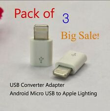 Big Sale 3 Packs Android to Apple USB Converter Adapter OEM Lightning for iphone
