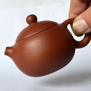 Teapot Zisha 80cc Filter loose tea Natural good mud pot round xishi Yixing clay