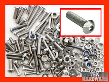 STAINLESS STEEL Button Head Allen Bolts, Nuts & Washers. 200 Pack. Socket Cap
