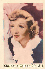 DUTCH MOVIE STAR GUM CARDS - No. 044 CLAUDETTE COLBERT