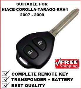 28240 Remote Car Key Suitable for Toyota Corolla Hiace Rav4 Tarago 2007 - 2010
