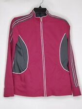 SJB Active Womens PS Purple Long Sleeve Full Zip Striped Sleeves Active Jacket
