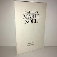 Revue CAHIERS DE L'ASSOCIATION MARIE NOEL N° 13 de décembre 1981 - CA19A