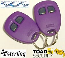 Toad Alarm A101cl, SPECIAL ADDITION  very berry fobs, Toad car & van Alarm NEW