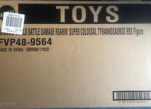 Jurassic Park World Battle Damage Colossal T Rex Tyrannosaurus Mattel Figure