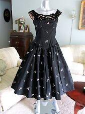 Vintage 50's Dress Full skirt Taffeta
