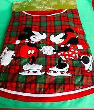 "DISNEY PARKS TREE SKIRT MICKEY MINNIE RED GREEN 50"" CHRISTMAS TREE SKIRT NEW"