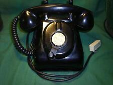 Antique Black Bakelite Crank Ringer Heavy Desk Telephone Vintage Hotel Phone NR