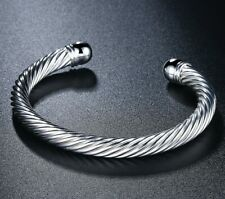 316L Stainless Steel Bracelet Classic Twist Wrist Bangle ITALY MADE