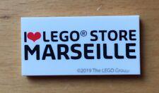Tile.   I LOVE  LEGO STORE MARSEILLE.  2019  Rare