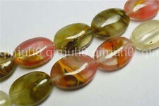 "13x18mm Watermelon Tourmaline Gem Oval Loose Beads 15"" JL485"