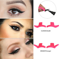 Pair Eyeliner Eyeshadow Stamp Stencil Makeup Cat Eye Easy Makeup Wing Tools uk.