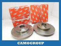 Pair Brake Disc Rear Pair Of AUDI A4 1994 2001 DDF830