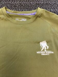 Under Armour Wounded Warrior Project Green Men's Medium Activewear T Shirt