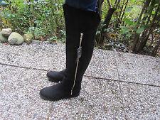 Wide Fit Primark Overknee Stiefel Graceland schwarz dehnbar Größe 42 NEU