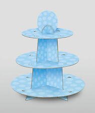 Pale Blue Cupcake Stand blue cardboard food serving stand 3 TIER Cake Stand