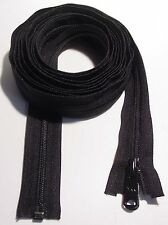 "110"" YKK #5 Black,Opening, Coil Zipper for Sleeping Bags, Tents, Boat Covers."