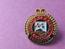 ELGIN COUNTY ONTARIO VOLUNTEER AWARD PIN VINTAGE CANADA SOUVENIR HAT BUTTON