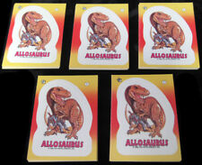 Lot of (5) 1988 Topps Dinosaurs Attack Sticker Card Sets (11) NM/MT
