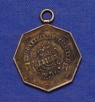 "1898 ""EDISON""  FAHRRAD KLUB MEDAILLE  BUDAPEST, UNGARN SILBER PUNZIERT S.G.A."