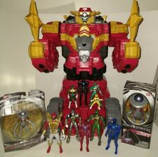 "Power Rangers Ninja Steel Lion Fire Fortress Zord 20"" Action Figure Megazord Lot"