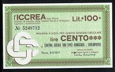ICCREA 1977/CANTINA SOCIALE-FORLIMPOPOLI/MINIASSEGNI/PAPER MONEY/FDS/UNC