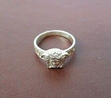 Versace solid silver ring