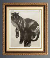 PAUL JOUVE (1878-1973) GRANDE SERIGRAPHIE PANTHERE SUR BRANCHE
