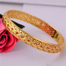Chic Luxury 14k Gold Filled Charm Bangle Bracelet Engagemnet Wedding Jewelry