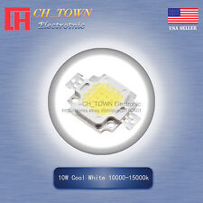 1Pcs 10W Watt High Power Cool White 10000-15000k SMD LED Chip Blub Beads Lamp
