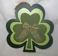 St. Patrick's Day Decor Irish Shamrock Sign Primitive Wood Wooden Wall Hanging